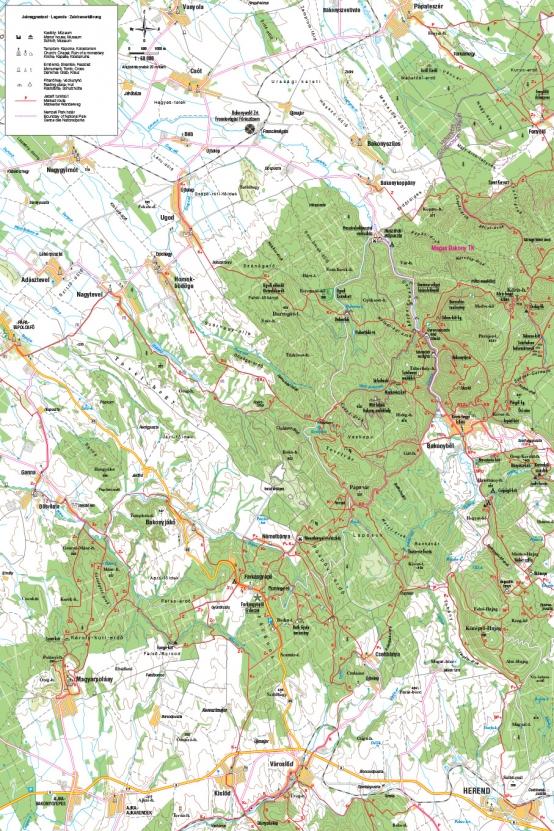 Farkasgyepű és környéke turista térkép