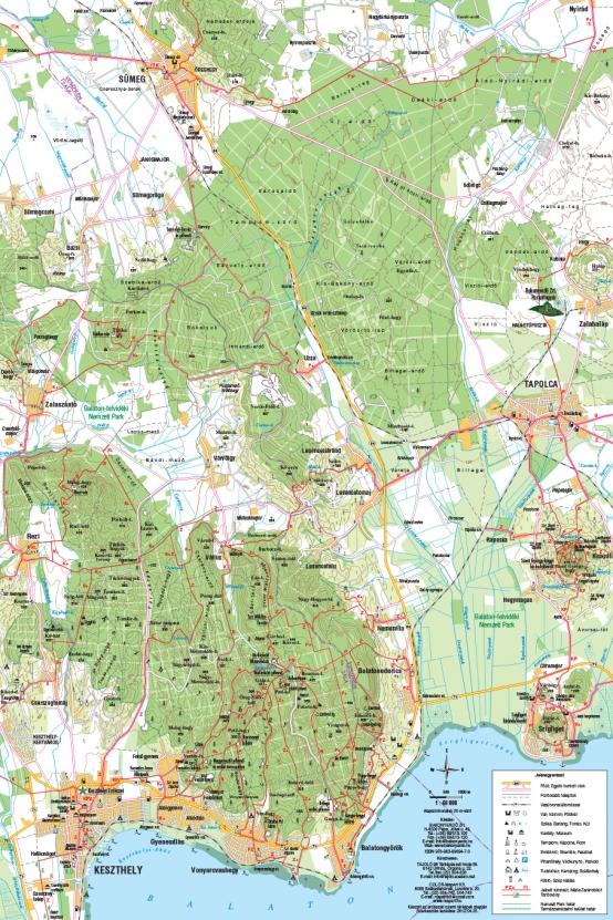 Keszthely és környéke turista térkép